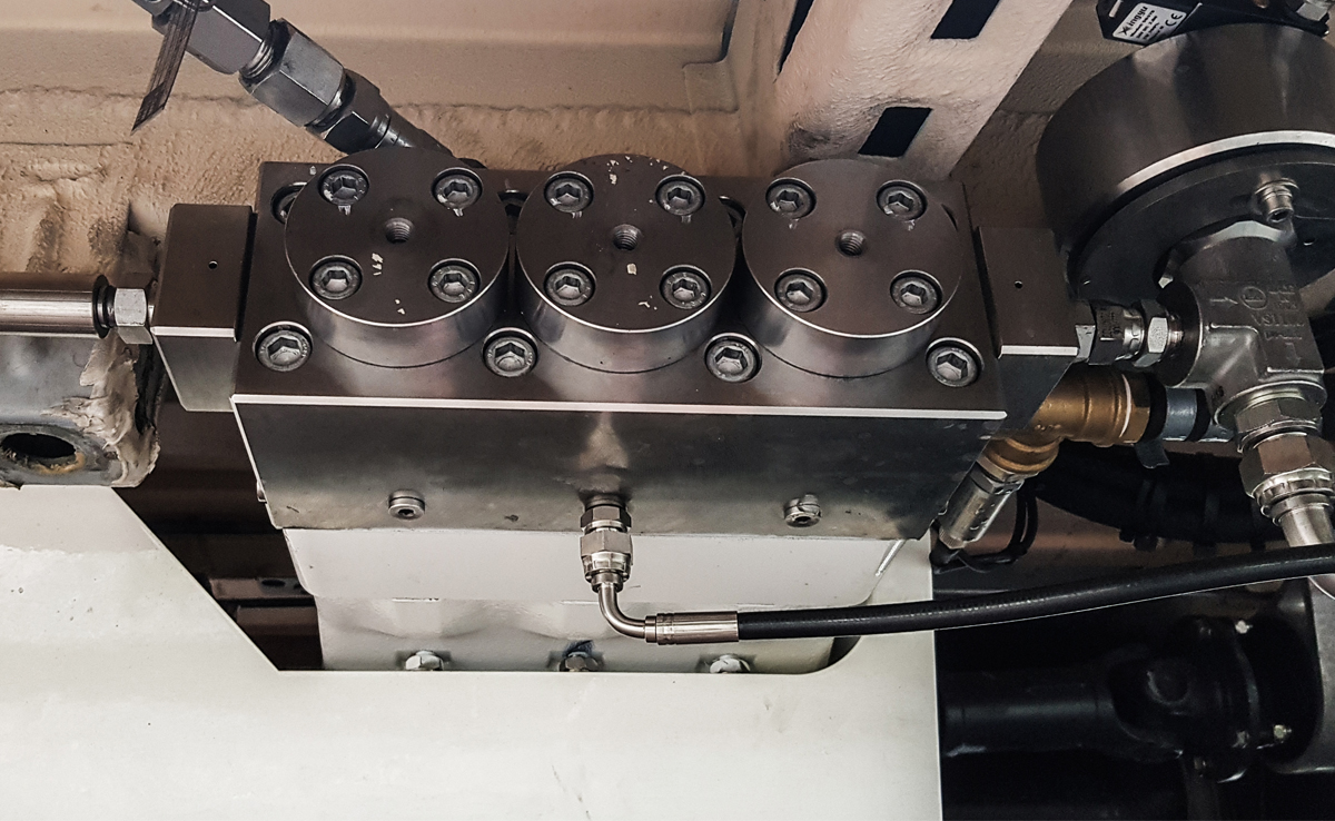 Closeup on van pump